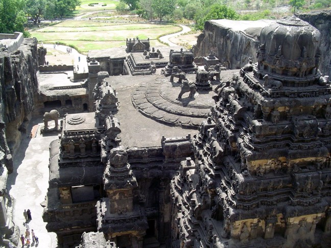 Magnificent Kailasha Temple at Ellora, India