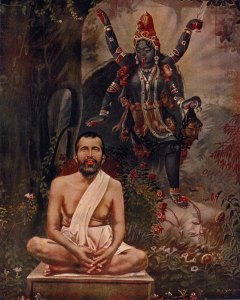 "Kali worshiper Ramakrishna Paramhansa, the Swami's ""illiterate"" mentor."