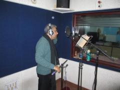 Recording my Tagore songs at Jupiter Studio.