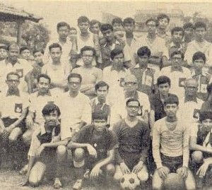 Our school football team. Find me here from way back when.