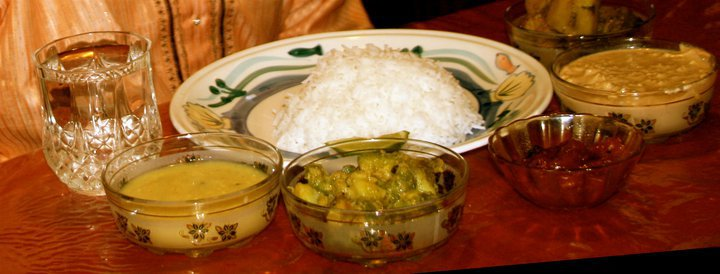 A healthy and handsome Bengali birthday dinner. Courtesy: Mukti's Kitchen.