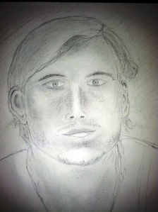 My first live portrait. Not perfect? Who cares? I am very happy I did it...on my first try.