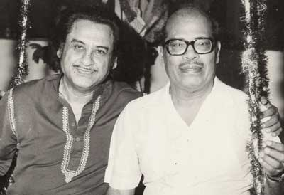 With Kishore Kumar, another musical genius.