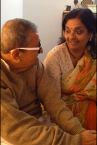 Mukti talks to father in Calcutta. January, 2014.