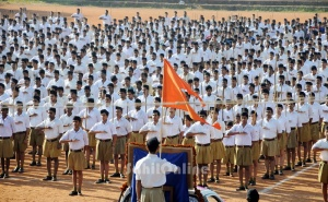 Militant RSS Rally. I left them, once and for all.