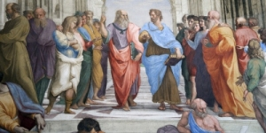 Plato and Aristotle, two of the greatest analytical thinkers.