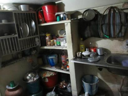 My mother's kitchen in North Calcutta.