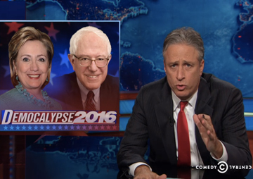 Jon Stewart thinks Sanders is a better candidate. He was serious this time.