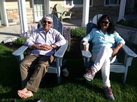 My wife Mukti and me, on Long Island.
