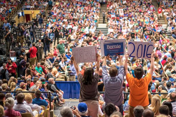 Bernie Sanders rally. One of the many.