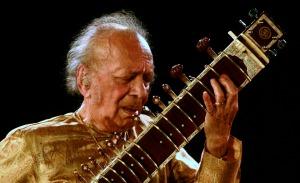 Ravi Shankar in Calcutta.