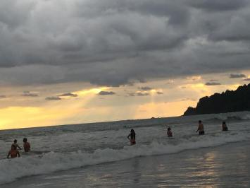 Sunset at Playa Manuel Antonio. Rat race stops here.