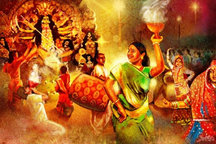 Durga-Puja-artistic