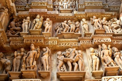 Khajuraho Temple in India. Eroticism and art. Who knows, maybe, Hindu Talibans will destroy it all!