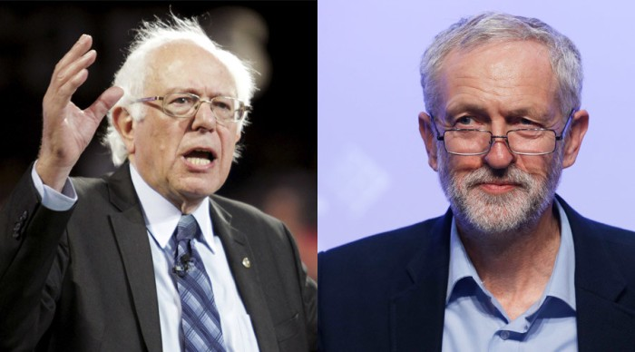 Bernie Sanders and Jeremy Corbyn. Together, these two pro-99% leaders can change the world.