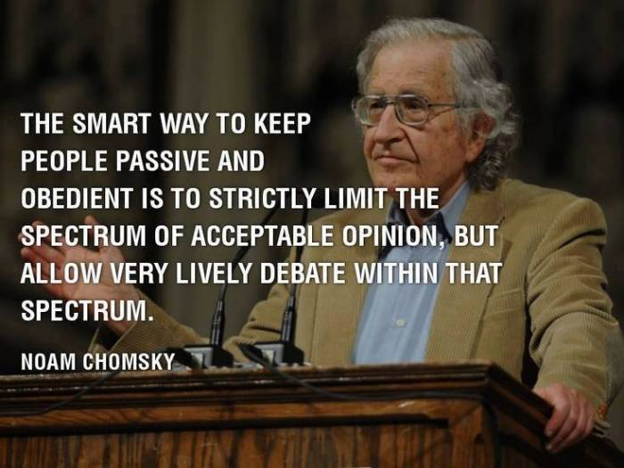 Chomsky debate spectrum
