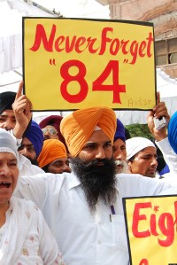 The 1984 Sikh massacre by Congress party thugs is still raw wound for many.