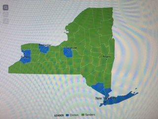 Bernie NY map
