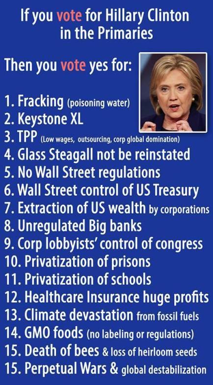 Hillary fracking