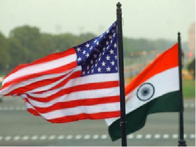 India USA flags