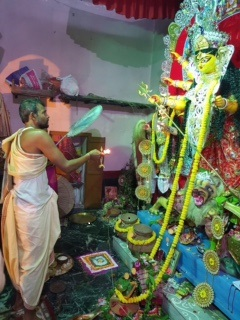 Bengal village Durga Puja